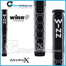 "WINN Pro X 1.60 ""GIGANTE TONDA LITE Putter Grip-Nero / Argento / Bianco"
