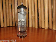 Vintage EZ81 6CA4 Austria Solid Disc Getter Stereo Tube Results 56/55  Balanced
