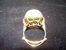 Lovely Large Vintage Jade Ring in 14K Yellow Gold