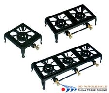 CAST IRON LPG/ BOTTLE GAS BURNER/ COOKER/ STOVE  DOUBLE BURNER FOR CAMPING