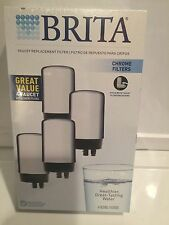 Brita Faucet Replacement Cartridge Refill  White or Chrome 2 Filters
