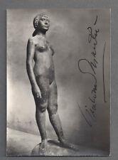 GIACOMO MANZU' - MAJOR ITALIAN SCULPTOR - SIGNED 1951 PHOTO - COA