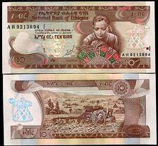 ETHIOPIA 10 BIRR 1989 1997 P 48a  UNC