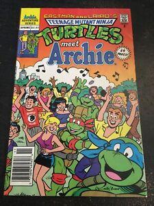 Teenage Mutant Ninja Turtles Adventures Meets Archie,Awesome Condition 7.0(1991)