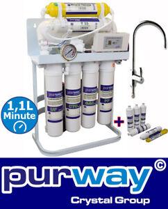 PUR Booster Quick 7 Stufen Direct flow Osmoseanlage + ERSATZFILTERSET