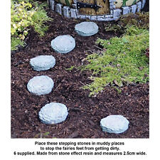 Fiddlehead Mini Stepping Stones Fairy Garden Set of 6