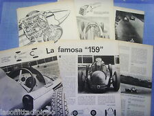 QUATTROR964-RITAGLIO/CLIPPING/NEWS-1964- ALFA ROMEO ALFETTA 159 - 7 fogli