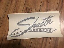 Shasta Travel Trailer Vintage style decal replacement Black Canned Ham set 2
