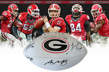 Murray Mitchell Floyd Georgia Bulldogs Autographed Football 5 sigs & FREE Photo