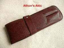 Vintage MONTBLANC Leather 2-Slot Pen Pouch Burgundy
