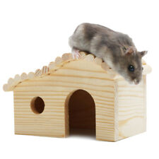 Hamster Arch House Small Animal Wooden Hideout Hut Pet Mouse Toy Safe