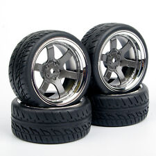 4Pcs 62.5mm Tires&Wheel Rim Set PP0038+PP0150 For HSP HPI RC 1:10 Model Car