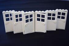 House City Creator Building Pane Doorway *NEW* LEGO 1x4x6 White Door with Frame