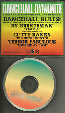 BEENIE MAN & CUTTY RANKS & TERROR FABULOUS Sampler PROMO DJ CD Single 1998 USA
