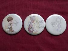 3 - Jonathan & David Christian Jesus Metal Souvenir Pinback Pin Badges Buttons *