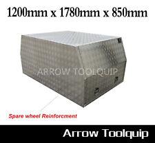 1200 x 1780 x 850 Aluminium Dual Cab Ute Canopy Toolbox Full Open Tool box