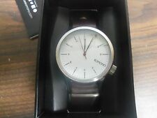 New KOMONO Magnus Silver / Burgundy Men's Watch KOM-W1903