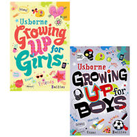 Growing Up for Girls, Growing Up for Boys 2 Books Set Pack Children's Books NEW