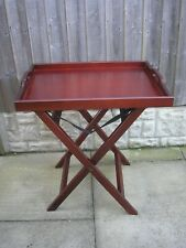 Lightweight Wooden Tray with Folding Legs. Tray size 60 x 45cm,table height 63cm