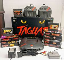 Atari Jaguar Console w/box,2 controllers,Composite Cables, 9 games! WORKS GREAT!