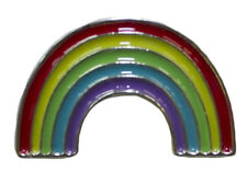 Pin With Colorful Enamel -Rainbow Hat Lapel Flair Tie Metal