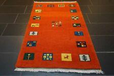Orientteppich Handgeknüpfter Gabbeh Tiermotiv - 160 cm x 90 cm Carpet Tapis Rug