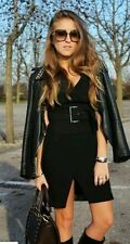 ZARA FAUX LEATHER COMBINATION DRESS SIZE UK M / USA M / EUR M