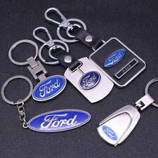 FORD Car Logo Key Chains All styles Metal, Wood, Leather.  SHIPS FROM USA
