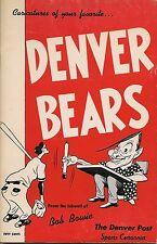 1951 Denver Bears Sketchbook Frank Torre Bill Bruton GEM!!