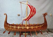 Drakkar Viking  - Handmade Wooden Model Boat