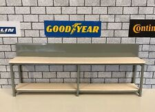 1/18 scale double Work Surface With Underneath Shelving for garage diorama