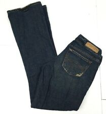 A&F Abercrombie & Fitch Jeans Distressed  Dark Blue Denim Women's Sz. 00 S
