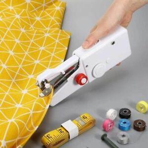 Handheld Sewing Machine Set Portable Mini Stitch Clothes Sew Needlework Cordless