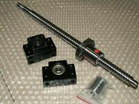1 anti backlash 25mm ballscrew RM2505-650mm-C7+BK/BF20 end support bearing CNC