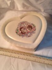 Prince Charles and Diane Royal Wedding - Heart Shaped Trinket Box - CARLTON WARE