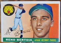 1955 Topps Baseball Card, #94 Reno Bertoia, Detroit Tigers - VG