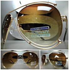 Mens Women CLASSIC VINTAGE RETRO Old School Style SUN GLASSES Unique Gold Frame