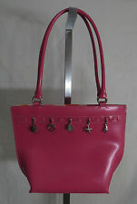 Wilsons Genuine Leather Pink Hand Bag Charms Purse