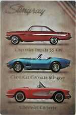 Chevrolet collection metal plaque tin sign classic Impala Corvette Stingray