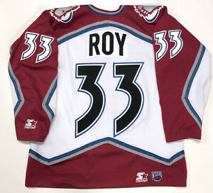 PATRICK ROY 1996 STANLEY CUP STARTER NHL COLORADO AVALANCHE JERSEY LARGE