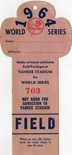 1964 World Series GM 3 Mickey Mantle HR 16 Ticket Pass  Tops Babe Ruth Record !