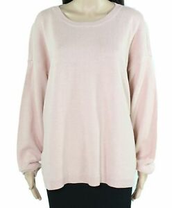 Eileen Fisher Women's Sweater Pink US Size XL Boxy Knit Solid Pullover $178 #295
