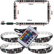 USB LED strip light lamp RGB SMD 5050 4X50cm 2x50cm+2x100cm TV Background lamp