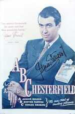 JAMES STEWART: Legendary Movie Star in Chesterfield Ad Autographed