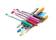 GLITTER Gel Pens 10 x Linc Shine Sparkled 0.7 mm FINE Tip 10 colours