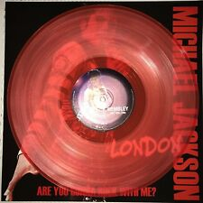 MICHAEL JACKSON - ARE YOU GONNA ROCK WITH ME? 180 GRAM RED COLORED VINYL LP