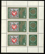 Hungary 1974 Sc# 2288 Sheet of 3 Stamps and 3 Labels