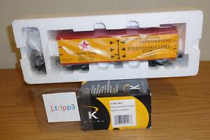 K-LINE K742-1891 PENNSYLVANIA PRR UNION LINE O SCALE WOOD-SIDED REEFER TRAIN CAR