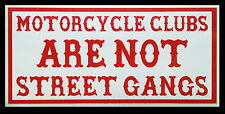 """Hells Angels support """"motorcycle clubs are not street gangs"""" disques autocollant"""