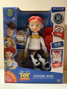 "NEW Disney Pixar 25th Year Toy Story Talking JESSIE 14"" Doll Pull String (NIB)"
